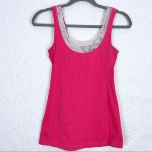 LuLulemon Athletica Pink Fitted Tank Top Size 6